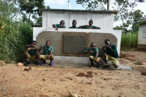The Water Project: Elufafwa Community School -  Boys At Their Vip Latrines