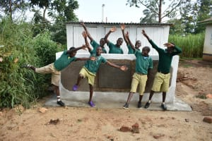 The Water Project: Elufafwa Community School -  Hurray Latrines