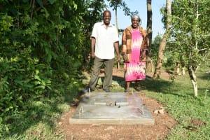 The Water Project: Sichinji Community, Kubai Spring -  Proud New Sanitation Platform Owners