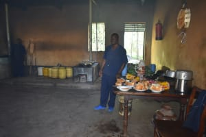 The Water Project: St. Peter's Khaunga Secondary School -  School Cook Inside The Kitchen