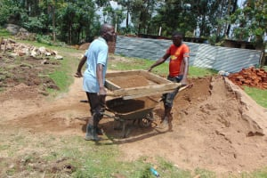 The Water Project: Ematiha Secondary School -  Sifting Sand