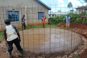 The Water Project: Womulalu Special School -  Setting The Rebar Tank Form
