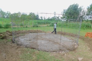 The Water Project: Shinyikha Primary School -  Wire Form For Rain Tank Walls