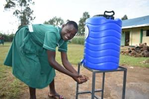 The Water Project: Elufafwa Community School -  Handwashing The Good Practice