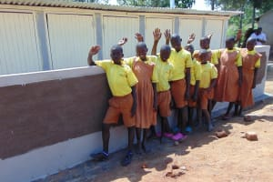 The Water Project: St. Margret Wadin'go Primary School -  Students With The New Latrines
