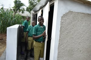 The Water Project: Elufafwa Community School -  Thumbs Up For New Latrines