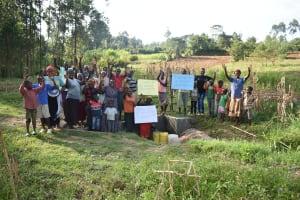 The Water Project: Sichinji Community, Kubai Spring -  Whole Community Says Thank You