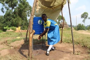 The Water Project: Musasa Primary School -  Enjoying The Shade While Handwashing
