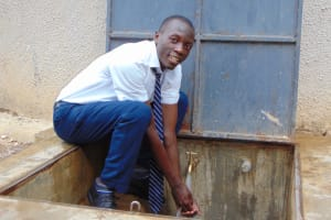 The Water Project: Ematiha Secondary School -  At The Rain Tanks Tap