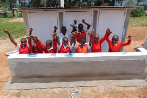 The Water Project: Goibei Primary School -  Girls With Their New Latrines