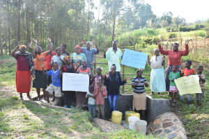 The Water Project: Sichinji Community, Kubai Spring -  Singing And Dancing At The Spring