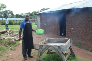 The Water Project: St. Gerald Mayuge Secondary School -  School Cook At Dishrack