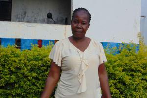 The Water Project: Mutiva Primary School -  Sanitation Teacher Mrs Rebecca Mbita