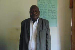 The Water Project: Friends Mixed Secondary School Lwombei -  Principal Henry Okore Amoke
