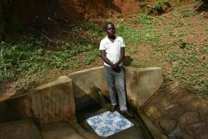 The Water Project: Mungakha Community, Nyanje Spring -  Movix Ogalu Of Nyanje Spring