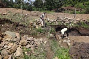 The Water Project: Bungaya Community, Charles Khainga Spring -  Brick Setting