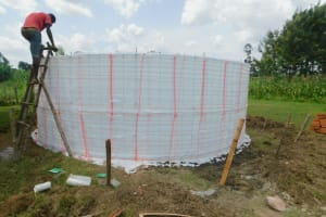 The Water Project: Shinyikha Primary School -  Plastic And Wire Form For Walls