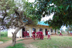 The Water Project: Friends School Ikoli Secondary -  Students Outside Their Classrooms