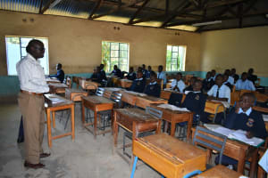 The Water Project: St. Peter's Khaunga Secondary School -  Students In Class