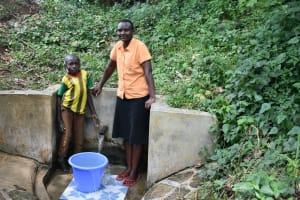 The Water Project: Mungakha Community, Asena Spring -  Litrelius Bordar And Gladys Ndunde