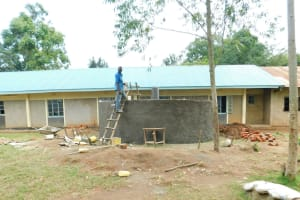 The Water Project: Enyapora Primary School -  Going Into The Tank