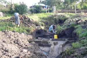 The Water Project: Bungaya Community, Charles Khainga Spring -  Brick Works For Spring Walls