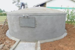 The Water Project: Elufafwa Community School -  Working On The Dome