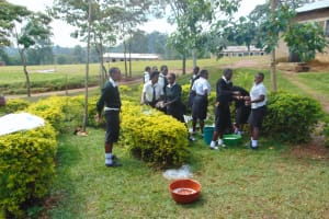 The Water Project: Friends Mixed Secondary School Lwombei -  Students Wash Chemistry Apparatus