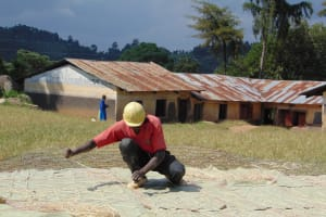 The Water Project: Musasa Primary School -  Adding Plastic Tarps To Dome Wire