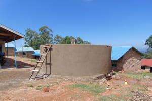 The Water Project: Goibei Primary School -  Rain Tank Walls Take Shape
