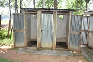 The Water Project: St. Peter's Khaunga Secondary School -  Girls Latrines