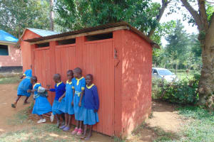 The Water Project:  Girls At Their Latrine Block