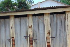 The Water Project: Mutiva Primary School -  Girls Latrines