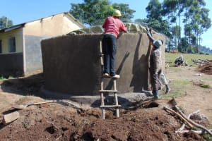 The Water Project: Musasa Primary School -  Connecting Dome To Tank