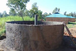 The Water Project: Mukangu Primary School -  Rain Tank Walls