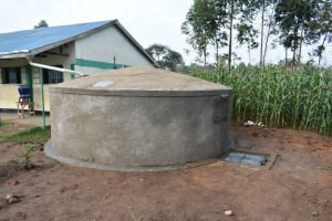 The Water Project: Elufafwa Community School -  Completed Rain Tank