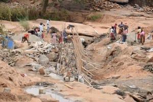 The Water Project: Mukuku Community -  Dam Construction Phase One