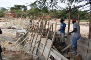 The Water Project: Mukuku Community -  Dam Construction Phase Two