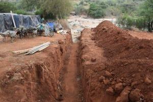 The Water Project: Mukuku Community -  Trenching
