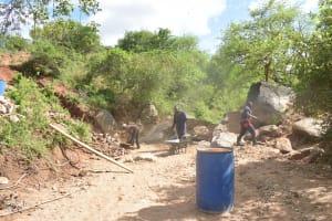 The Water Project: Kathuli Community -  Dam Construction
