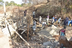 The Water Project: Tulimani Community -  Sand Dam Construction