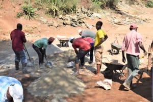 The Water Project: Kala Community B -  Dam Construction