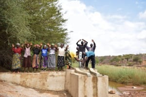 The Water Project: Mukuku Community A -  Celebrating The Completed Well