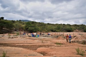 The Water Project: Mukuku Community A -  Construction Site