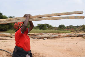 The Water Project: Mukuku Community A -  Hauling Wood