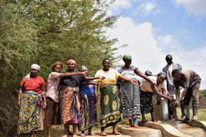 The Water Project: Mukuku Community A -  Pointing At The Well