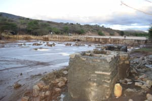 The Water Project: Mukuku Community A -  View Of Drying Well Cement And Dam