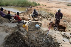 The Water Project: Mukuku Community A -  Well Construction