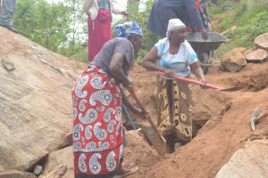 The Water Project: Kathuli Community A -  Digging At Construction Site