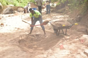 The Water Project: Kathuli Community A -  Digging Sand